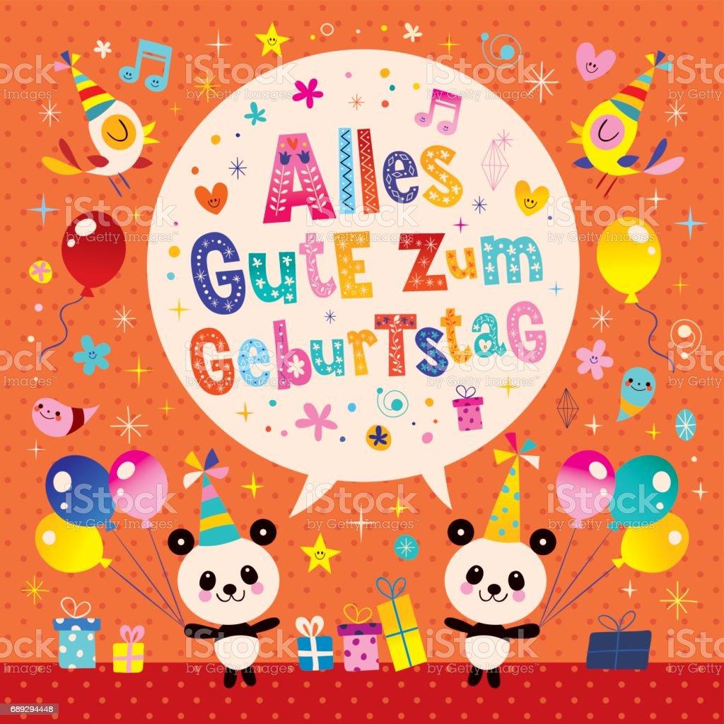 Alles Gute Zum Geburtstag Deutsch German Happy Birthday Greeting Card Royalty Free