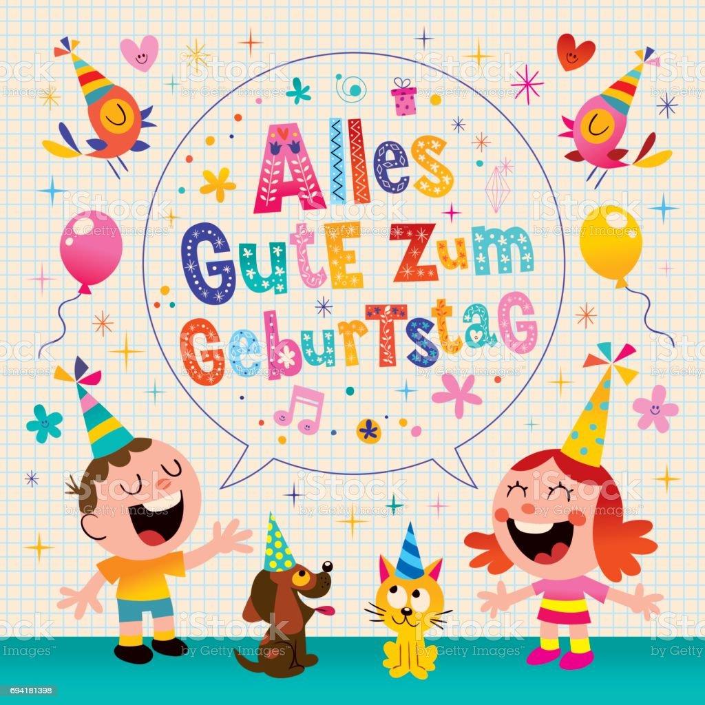 Alles gute zum geburtstag deutsch german happy birthday greeting alles gute zum geburtstag deutsch german happy birthday greeting card royalty free alles gute zum m4hsunfo