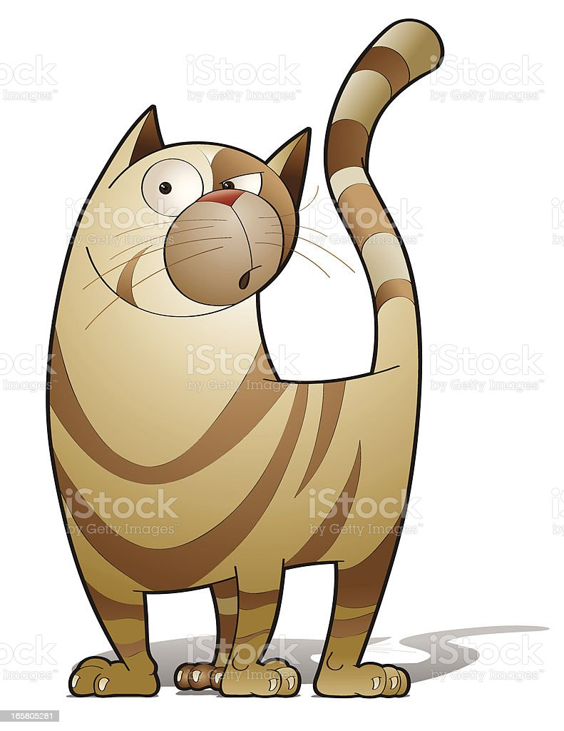 Alley Cat vector art illustration