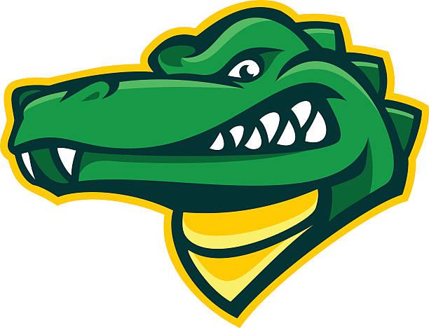alligator mascot - alligator stock illustrations