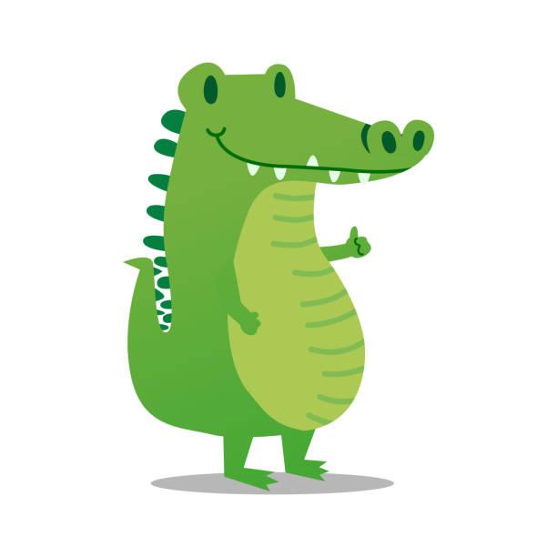 Alligator Cute baby Alligator, EPS10 vector alligator stock illustrations