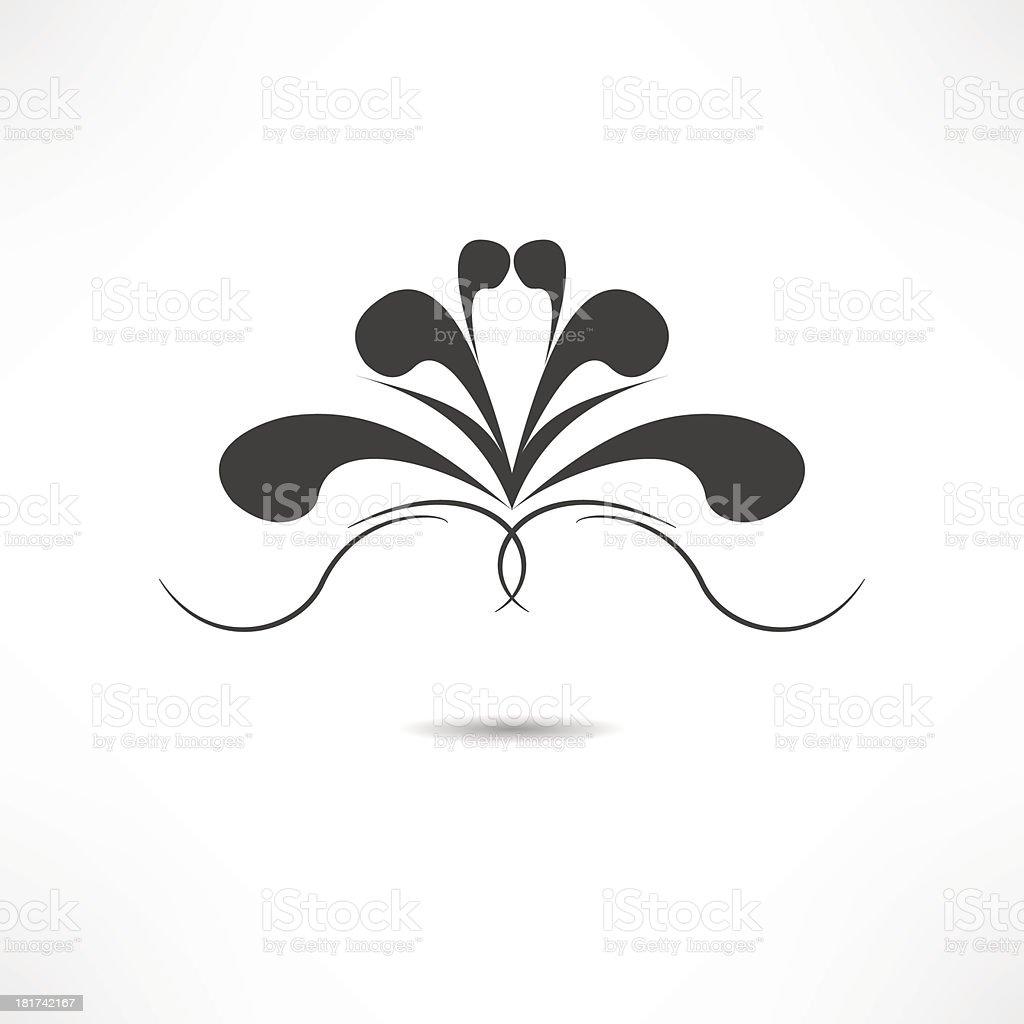 Сalligraphic design element royalty-free stock vector art