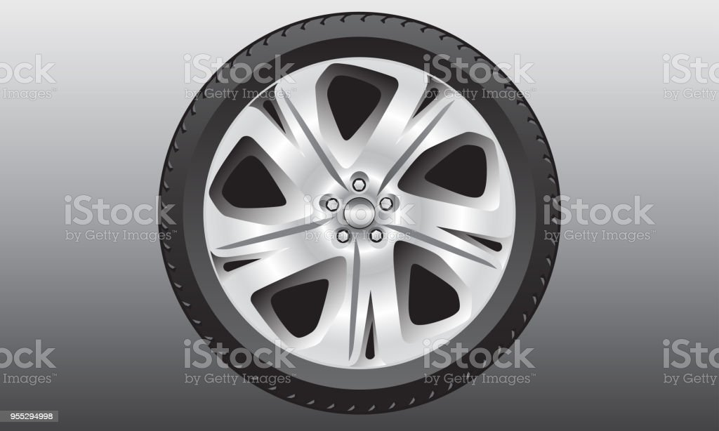 Alloy wheel design vector vector art illustration