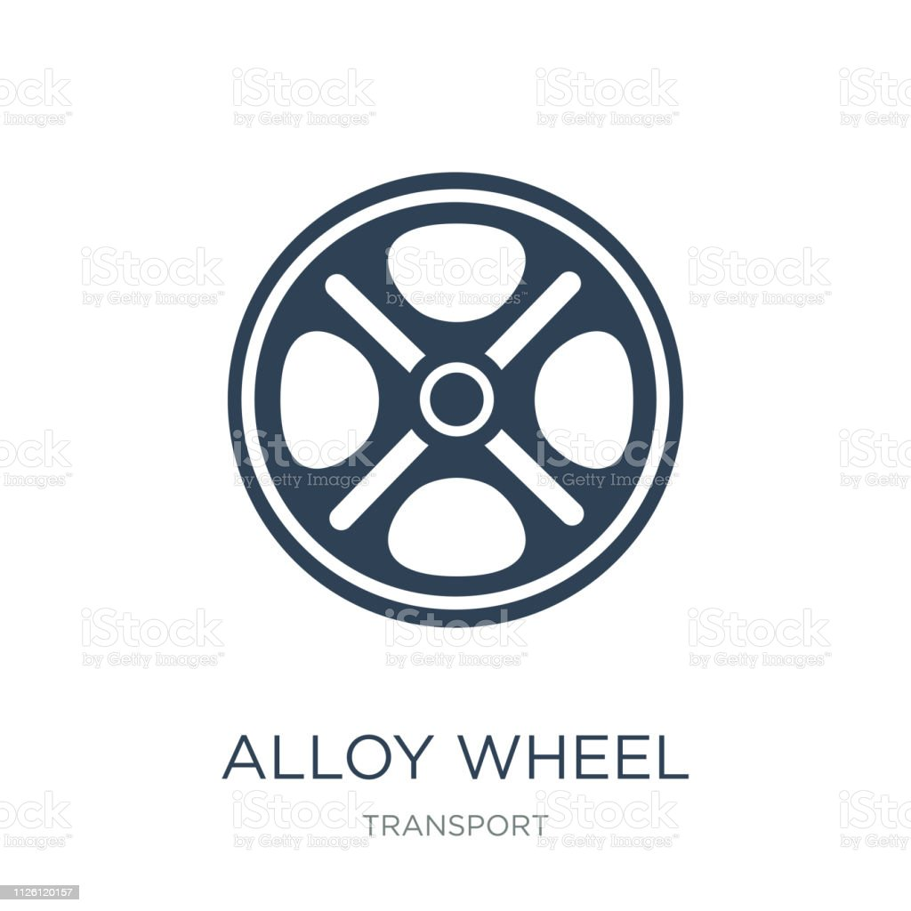 alloy wheel icon vector on white background, alloy wheel trendy filled icons from Transport collection, alloy wheel vector illustration vector art illustration