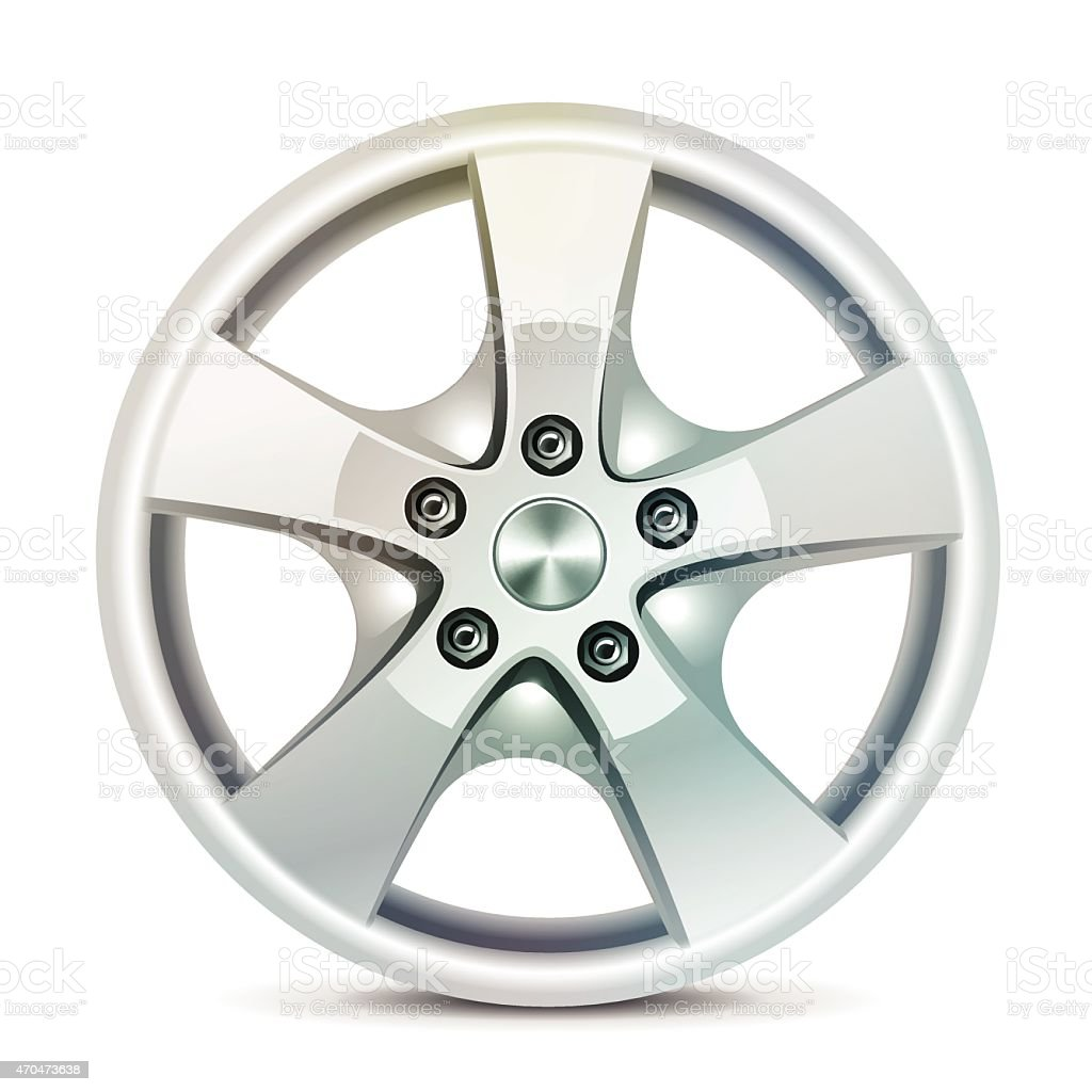 Alloy wheels, vector vector art illustration