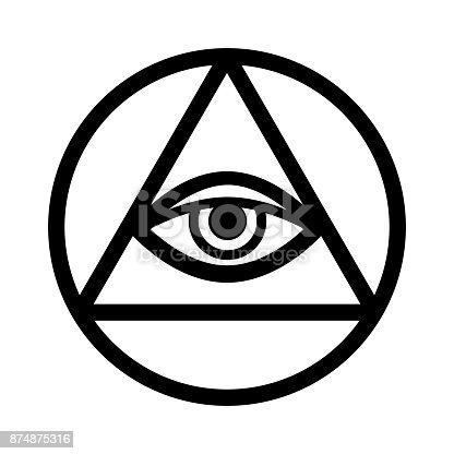 Allseeing Eye Of God Ancient Mystical Sacral Symbol Of Illuminati