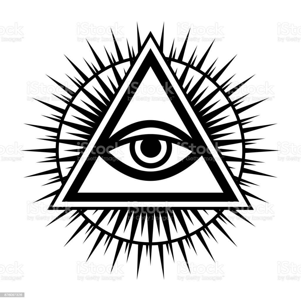 allseeing eye of god ancient mystical sacral symbol of illuminati rh istockphoto com Jesus Vector Pentegram Vector