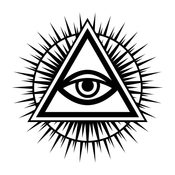 all-seeing eye of god (the eye of providence | eye of omniscience | luminous delta | oculus dei). ancient mystical sacral symbol of illuminati and freemasonry. - freemasons stock illustrations
