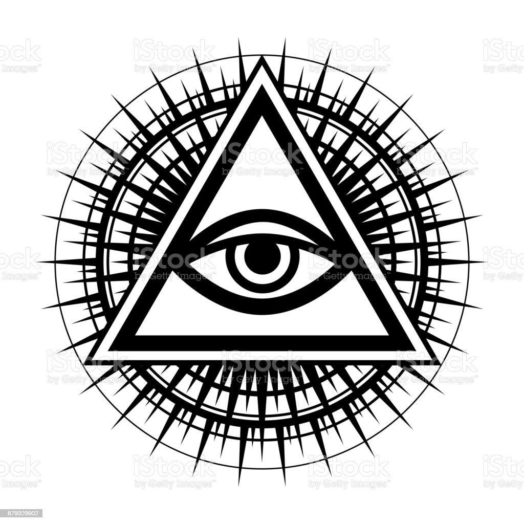 Allseeing eye of god ancient mystical sacral symbol of illuminati all seeing eye of god the eye of providence eye of omniscience buycottarizona