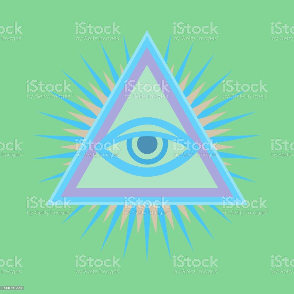Allseeing eye of god ancient mystical sacral symbol of illuminati all seeing eye of god the eye of providence eye of omniscience biocorpaavc Choice Image