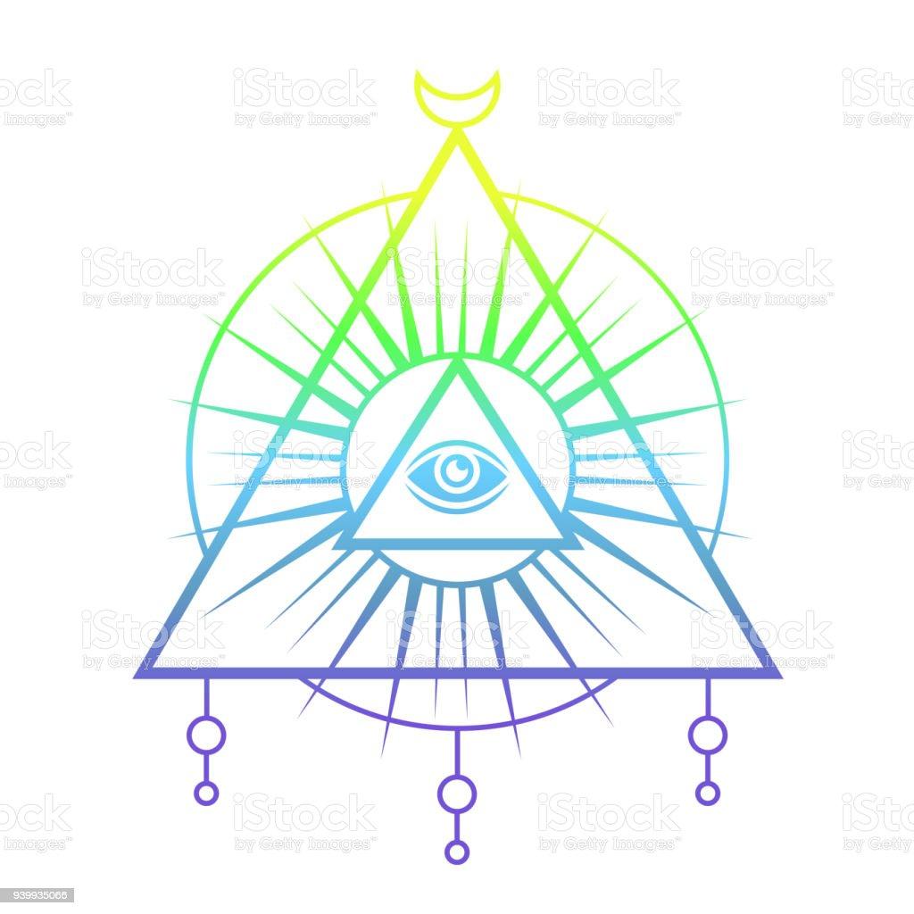 allseeing eye symbol sacred geometry stock vector art more images rh istockphoto com sacred geometry vectors meaning sacred geometry vector bundle