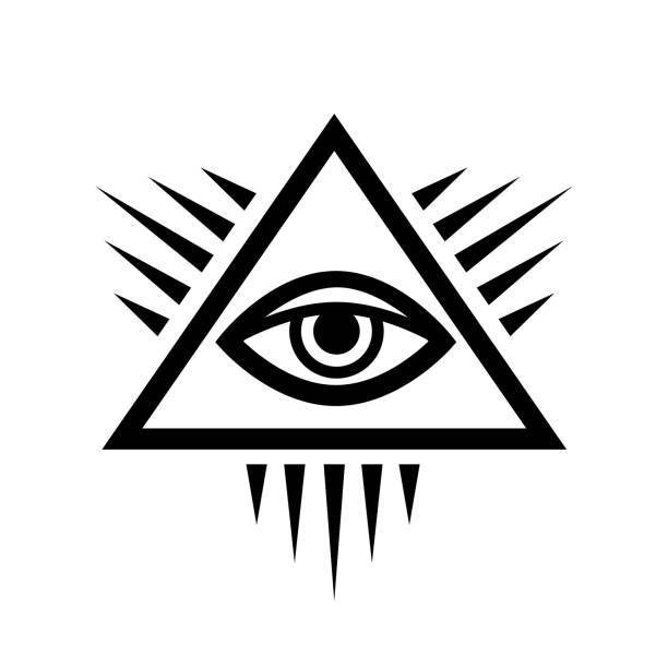 all-seeing eye (the eye of providence) - третье око stock illustrations