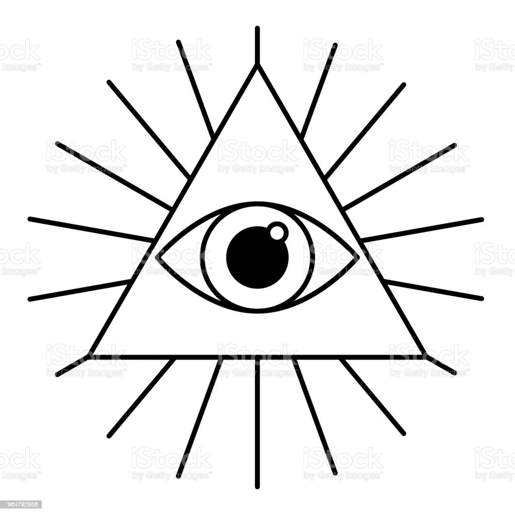 all-seeing eye, vector line icon. royalty-free allseeing eye vector line icon stock vector art & more images of concepts