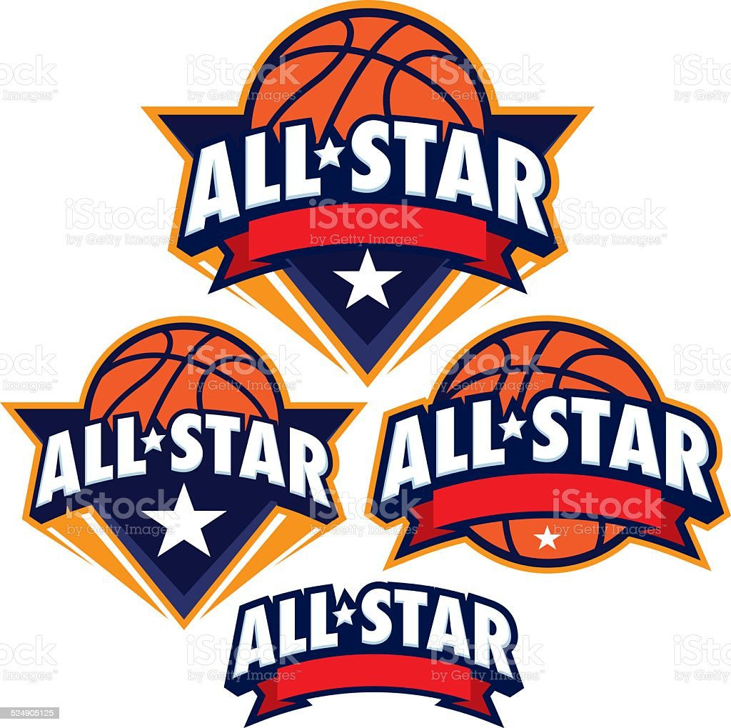 AllStar basketball design Pack vector art illustration