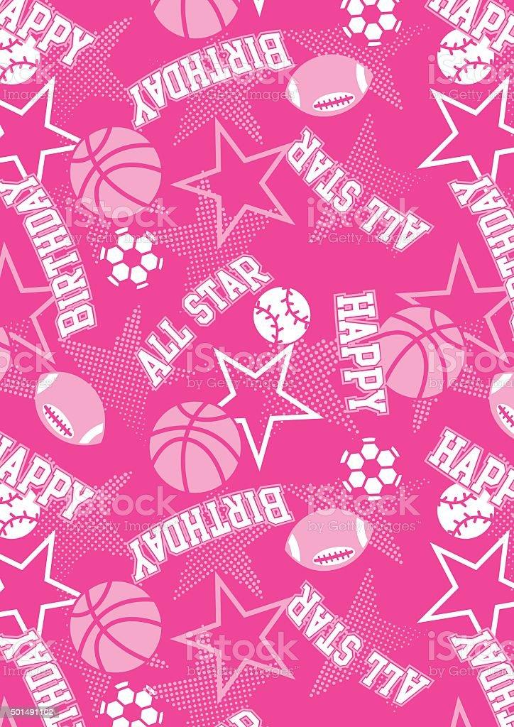 All-star feliz aniversário - ilustração de arte em vetor