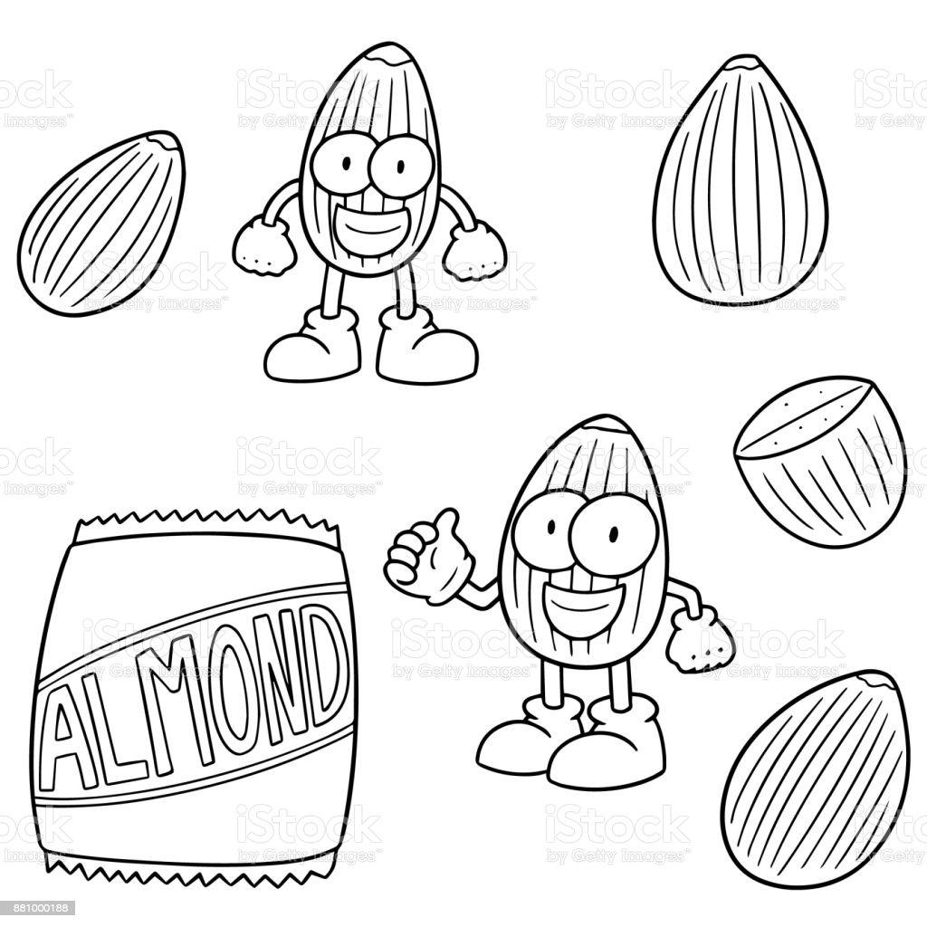 royalty free square foot garden clip art vector images Planner Square Foot Gardening almond cartoon vector art illustration