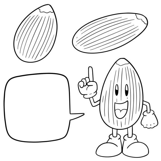 almond - square foot garden stock illustrations, clip art, cartoons, & icons