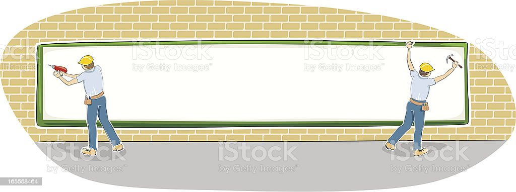 almost finished billboard - space for your message royalty-free stock vector art