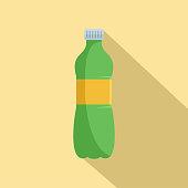 Aloe plastic bottle icon. Flat illustration of aloe plastic bottle vector icon for web design