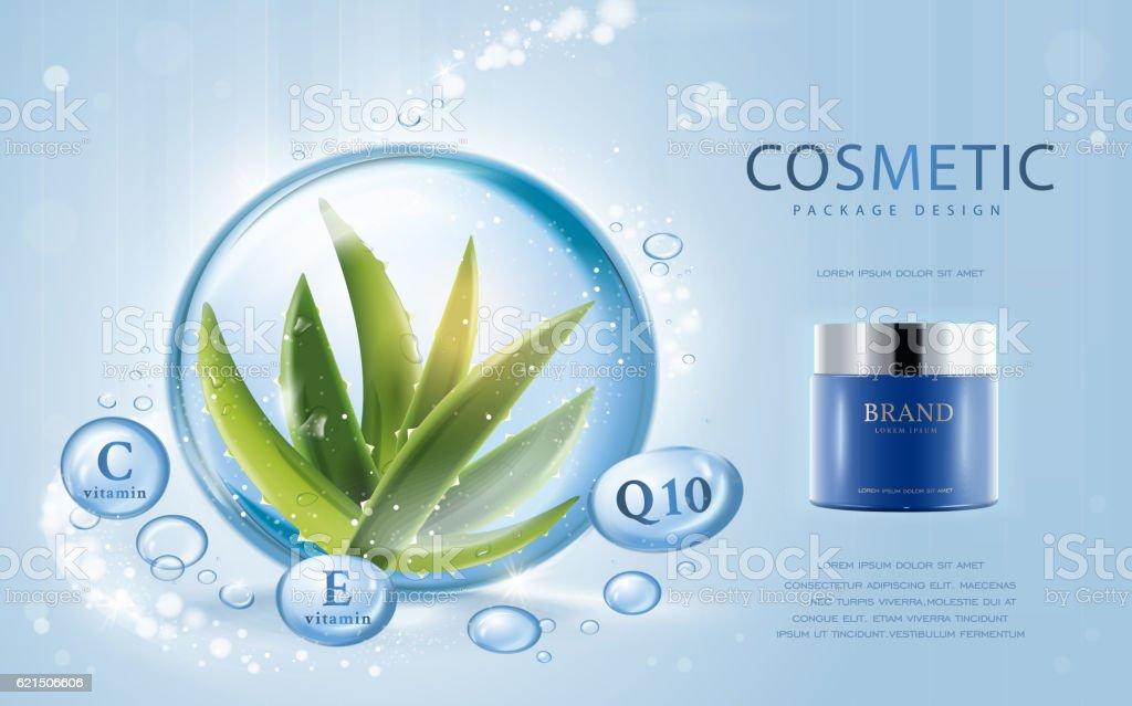 Aloe vera cosmetic template Lizenzfreies aloe vera cosmetic template stock vektor art und mehr bilder von aloe