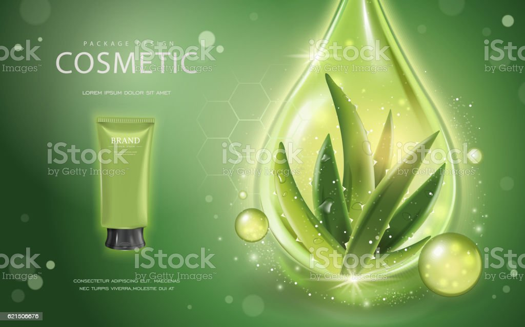 Aloe vera cosmetic template aloe vera cosmetic template – cliparts vectoriels et plus d'images de affiche libre de droits