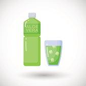 Aloe vera drink vector flat icon