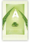 Aloe vera green shiny sparkles - Illustration