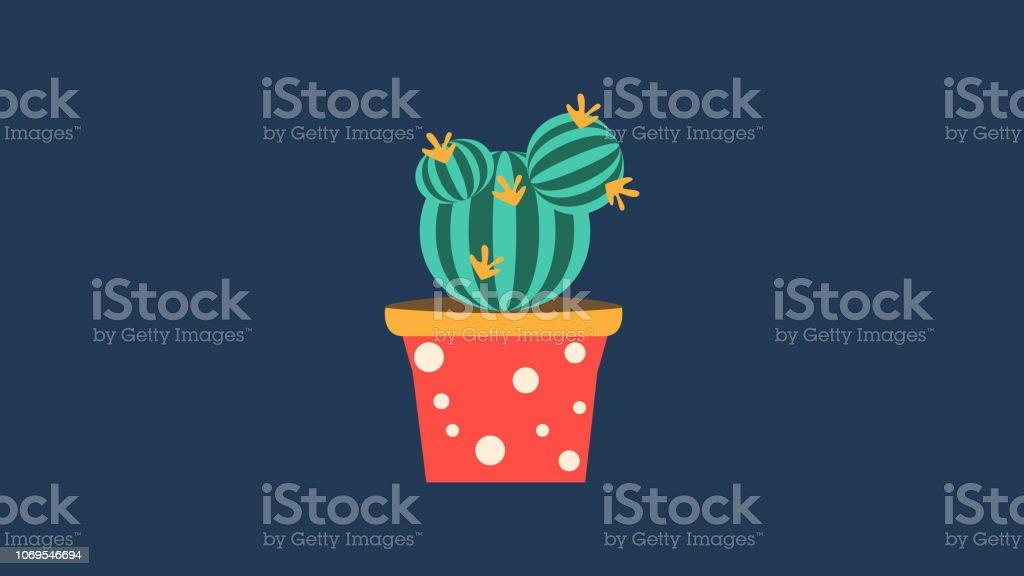 Aloe Vecteur De Dessin Animé De Plantes De Bébé De Thorn