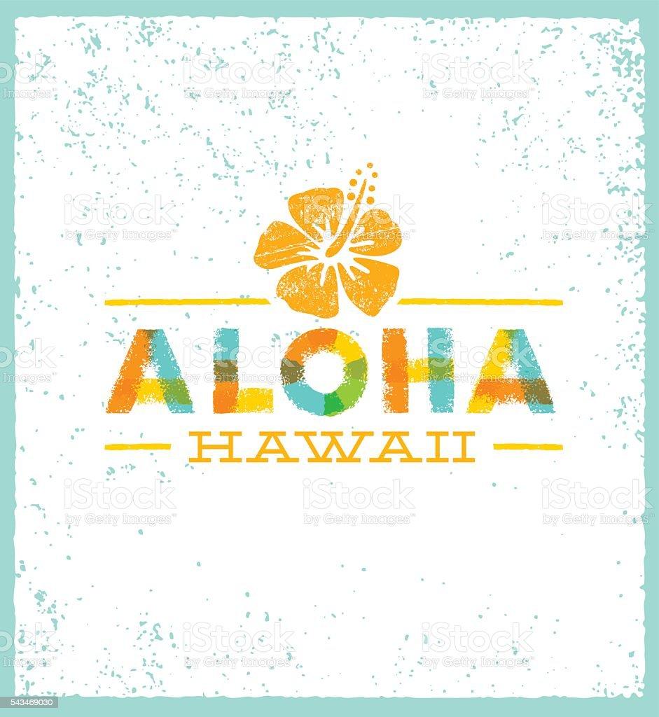 Aloha Hawaii Creative Summer Beach Tropical Vector Design Element vector art illustration