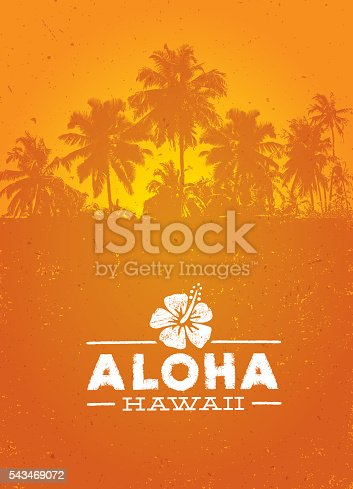 istock Aloha Hawaii Creative Summer Beach Tropical Vector Design Element 543469072