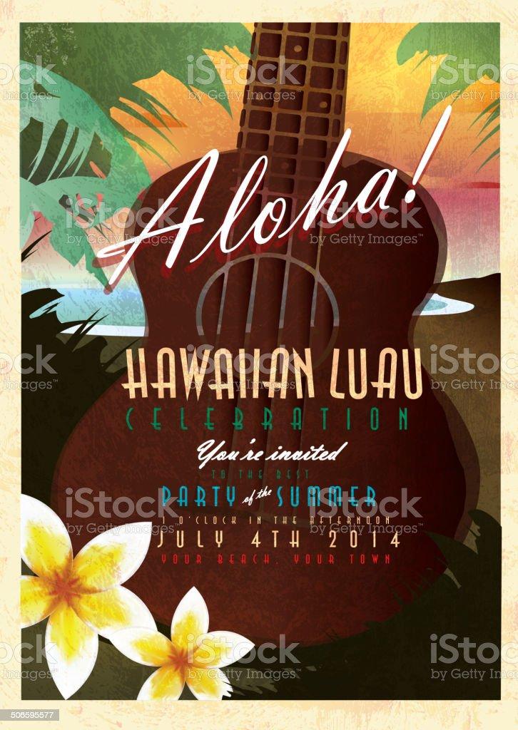 hawaiian luau illustrations  royalty