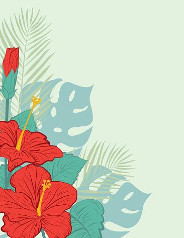 Aloha Hawaiian Party Invitation With Hibiscus Flowers
