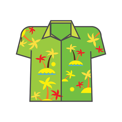 Aloha Shirt Line Icon