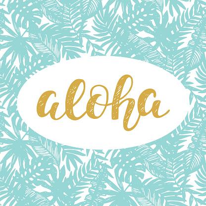Aloha Summer lettering