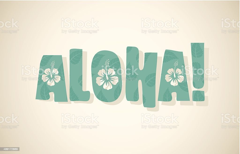 Aloha イラスト素材 - iStock