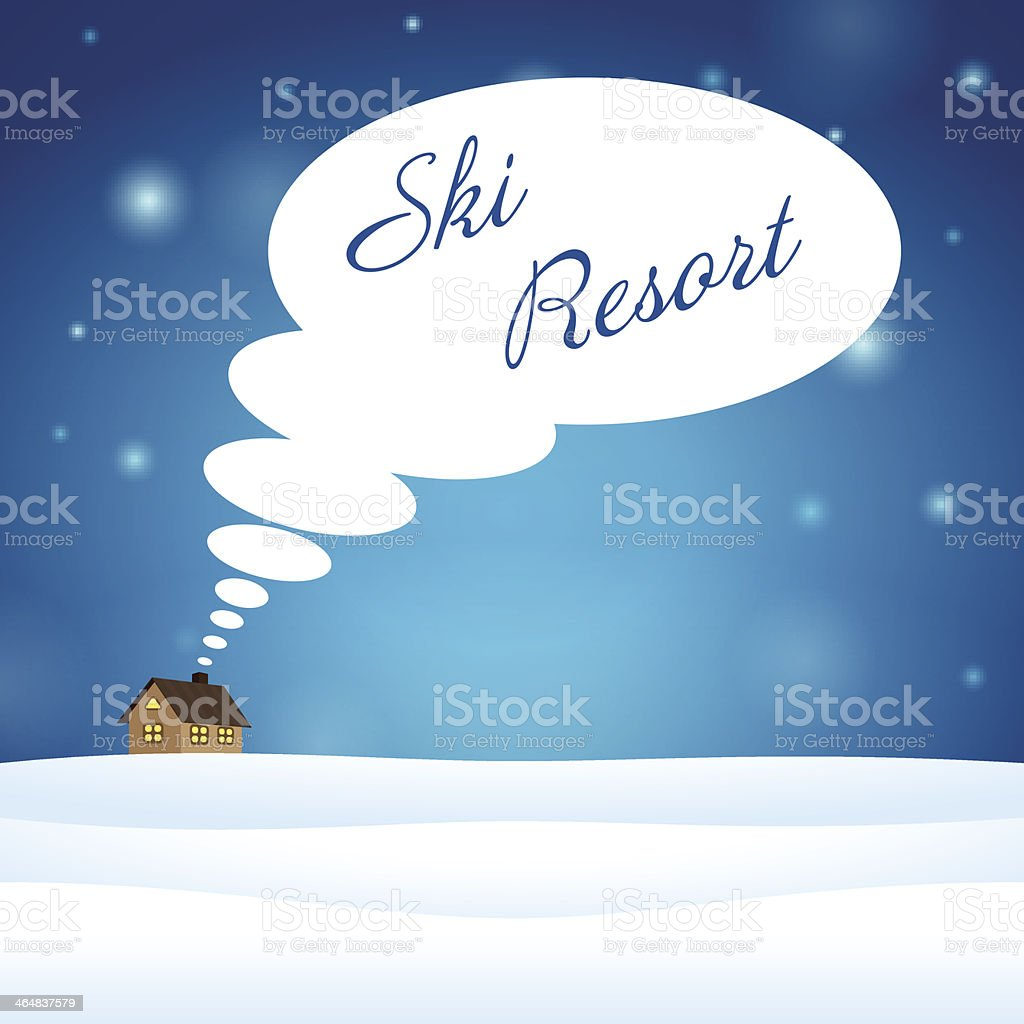 Alone house on snow think about ski resort royalty-free alone house on snow think about ski resort stock vector art & more images of backgrounds