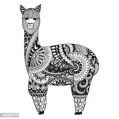 ᐈ Imagen De Alpaca Para Salida Impresa Y Página Del Libro
