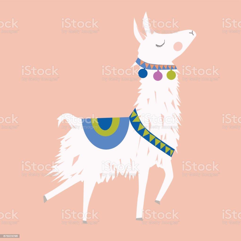 alpaca Illustration vector art illustration