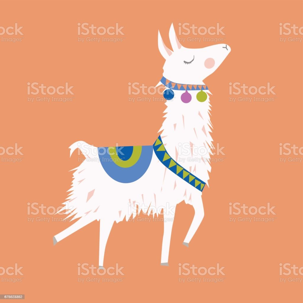 alpaca Illustration vector art illustration