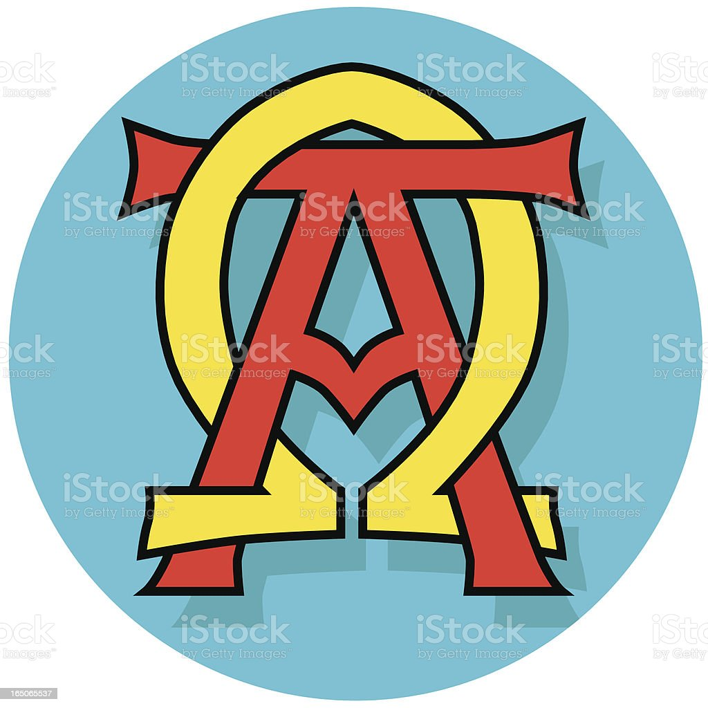 alpha and omega Christian symbol royalty-free stock vector art
