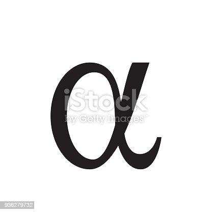 istock Alpha icon, vector illustration, 936279732