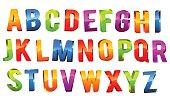Alphabet 3D Text