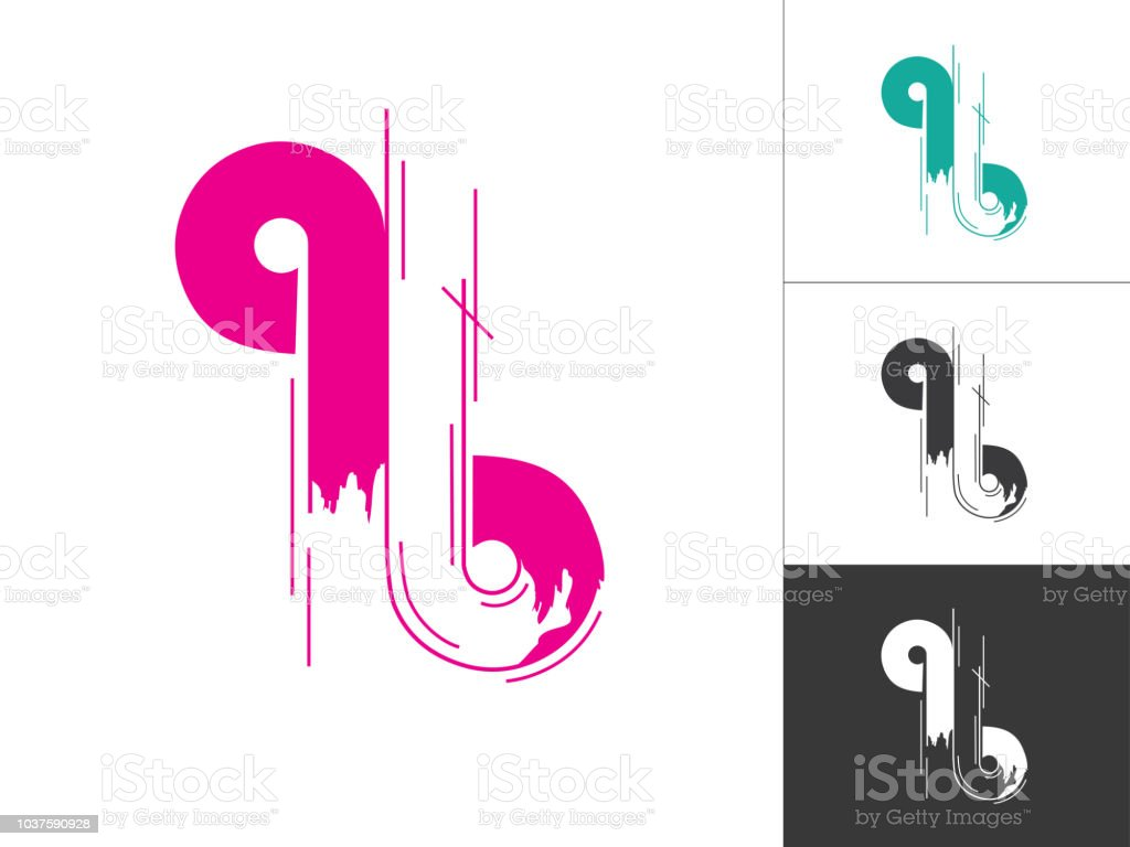 Alphabet A B Q Logotype Linked Concept In Vector Illustration Modern ...