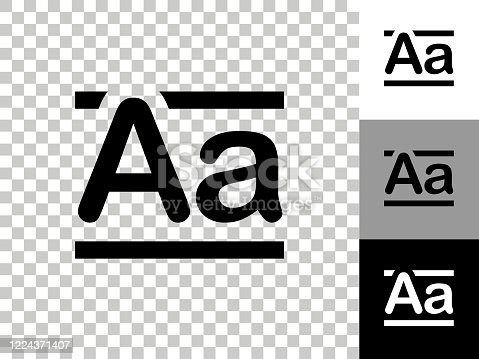 istock Alphabet A Icon on Checkerboard Transparent Background 1224371407
