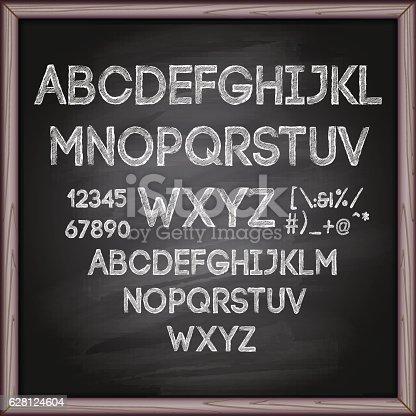Typescript, Chalk - Art Equipment, Chalk Drawing, Blackboard, Alphabet on blackboard