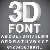 3D Alphabet and Numbers