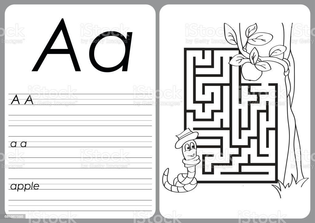 Ilustración de Libro De Alfabeto Para Colorear De La A La Z ...