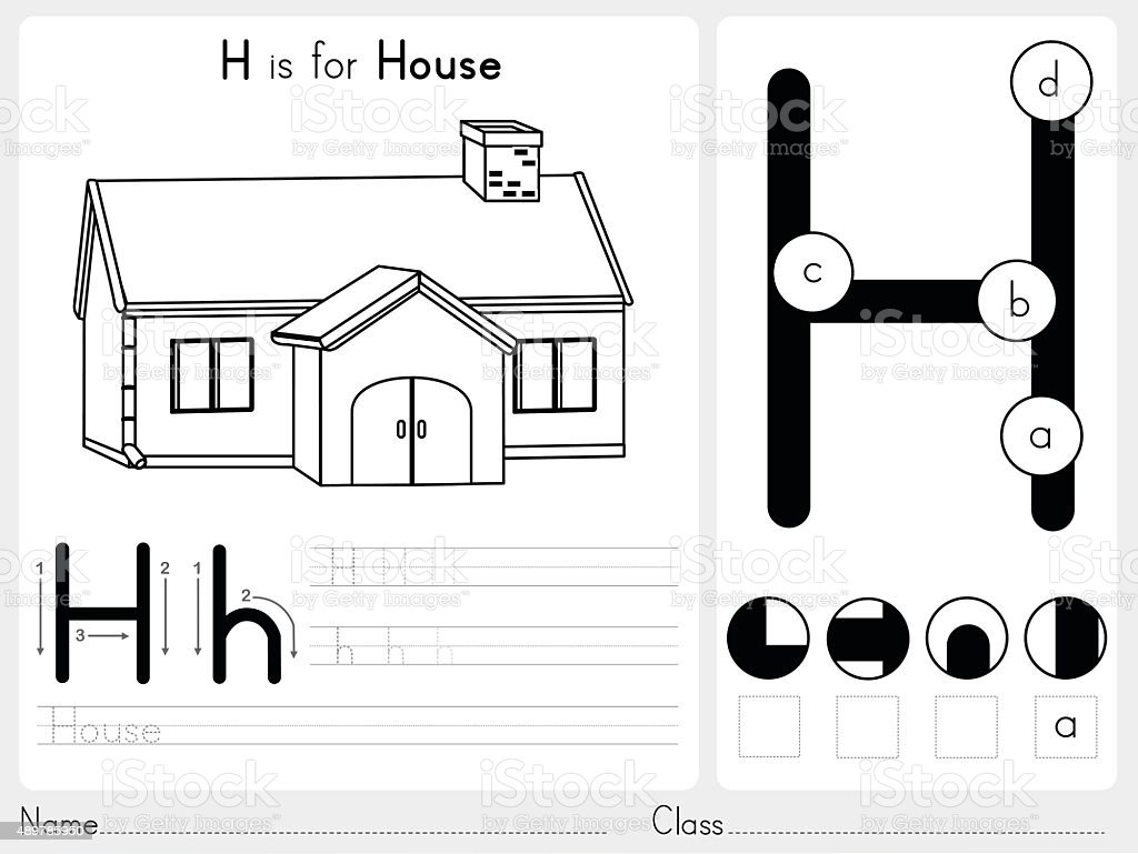 Alphabet A-Z Tracing and puzzle Worksheet vector art illustration