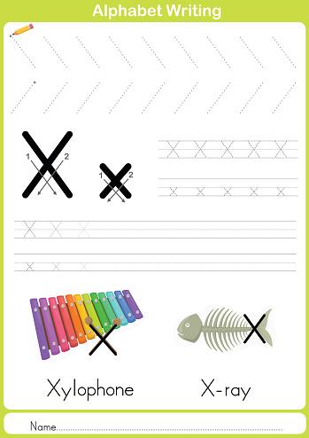 Alphabet A-Z Tracing Worksheet,  Exercises for kids