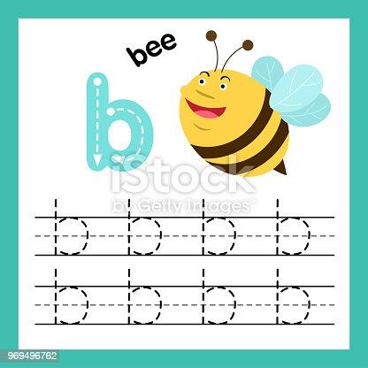 Ilustración de Alfabeto B Ejercicio Con Vocabulario De Dibujos ...
